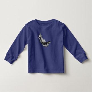 Camiseta Infantil Natação do golfinho