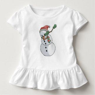 Camiseta Infantil Natal engraçado de toque ligeiro do t-shirt do