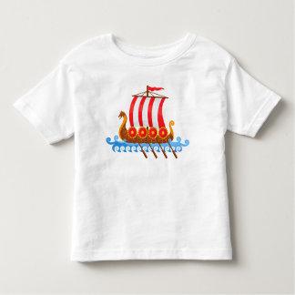 Camiseta Infantil Navio de Viking