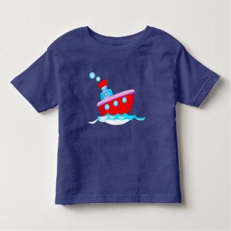Camiseta Infantil Navio dos desenhos animados
