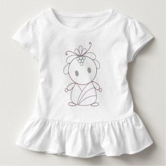 Camiseta Infantil Ninfa bonito da flor