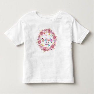 Camiseta Infantil Nome de Isabelle