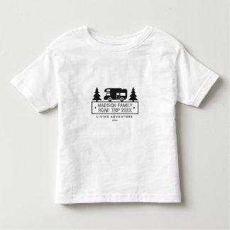 Camiseta Infantil Nome de Motorhome do campista da viagem por