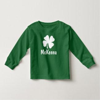 Camiseta Infantil Nome do trevo do dia | de St Patrick