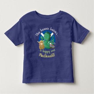 Camiseta Infantil Nome escocês personalizado do clã da família dos