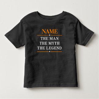 Camiseta Infantil Nome personalizado o homem o mito a legenda