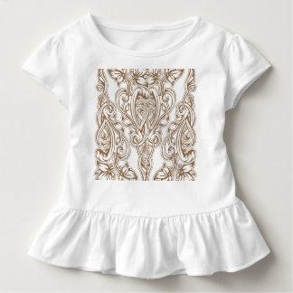 Camiseta Infantil nouveau da arte, ouro, branco, vintage, teste