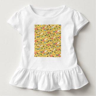 Camiseta Infantil o amor bonito do emoji ouve o teste padrão do riso
