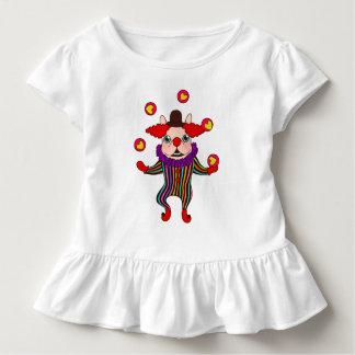 Camiseta Infantil O cão Frenchie do palhaço entertains o com seu