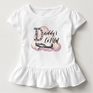 Camiseta Infantil O copiloto do pai, Tshirt da criança, miúdos do