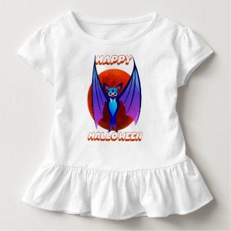 Camiseta Infantil O Dia das Bruxas azul Bat~