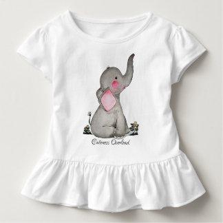 Camiseta Infantil O elefante bonito do bebê da aguarela com cora &