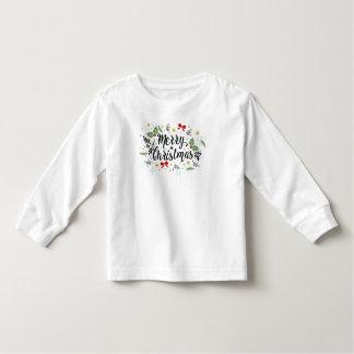 Camiseta Infantil O Feliz Natal brincalhão de Ditsy projeta as capas