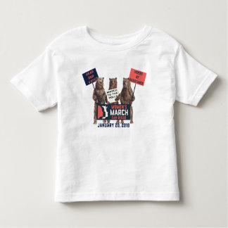Camiseta Infantil O março San Diego das mulheres carrega o Tshirt