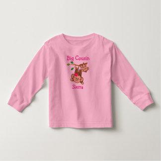 Camiseta Infantil O menino personalizado, menina Monkeys o primo