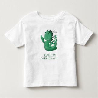 Camiseta Infantil O Nessie pequenino de Loch Ness personalizou