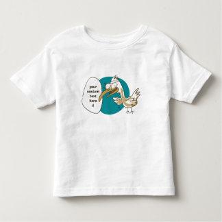 Camiseta Infantil o pássaro engraçado diz algo desenhos animados
