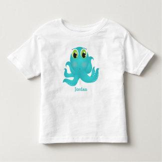 Camiseta Infantil O polvo feliz bonito do miúdo