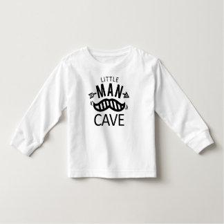 Camiseta Infantil O preto pequeno do bigode da caverna do homem