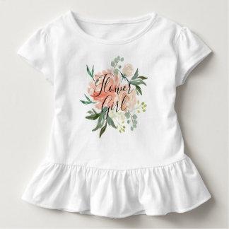 Camiseta Infantil O primavera cora florista do buquê da aguarela do