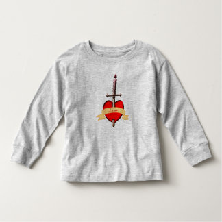 Camiseta Infantil o punhal do amor perfurou o coração