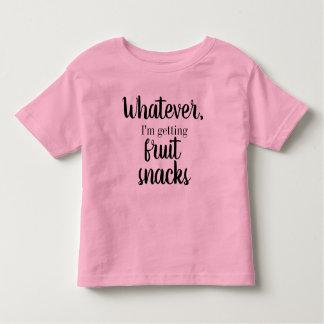 Camiseta Infantil O que quer que, mim estão obtendo o T dos petiscos