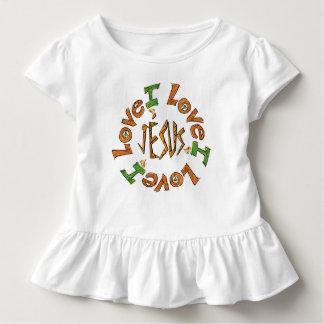 Camiseta Infantil O que quer que você trabalha Heartily Colossians 3