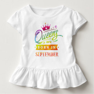 Camiseta Infantil O Queens é em setembro presente de aniversário