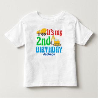 Camiseta Infantil O segundo aniversário caçoa o partido do veículo