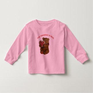 Camiseta Infantil O Snuggle é urso de ursinho real