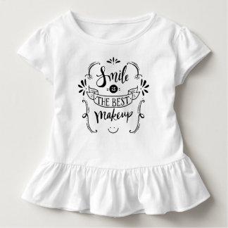 Camiseta Infantil O sorriso simples é o melhor T do plissado da