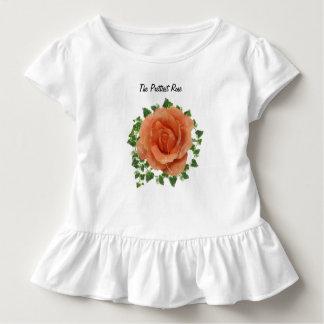 Camiseta Infantil O T cor-de-rosa o mais bonito do plissado