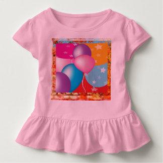 Camiseta Infantil O T DIY do plissado da criança fácil adiciona o