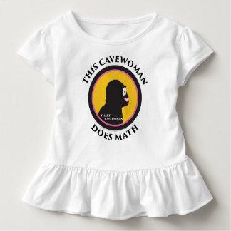 Camiseta Infantil O T do plissado da criança este Cavewoman espertos