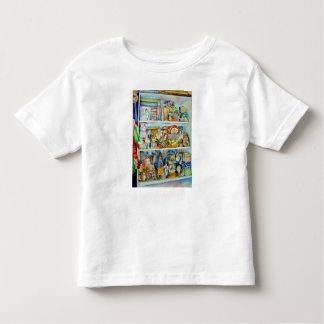Camiseta Infantil O t-shirt da criança com as prateleiras dos