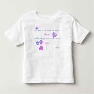 Camiseta Infantil O t-shirt da criança de brilho dos diamantes