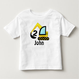 Camiseta Infantil Ò trator personalizado do caminhão da construção