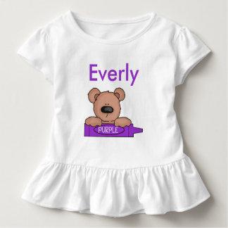Camiseta Infantil O ursinho personalizado de Everly