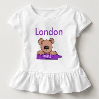 Camiseta Infantil O ursinho personalizado de Londres