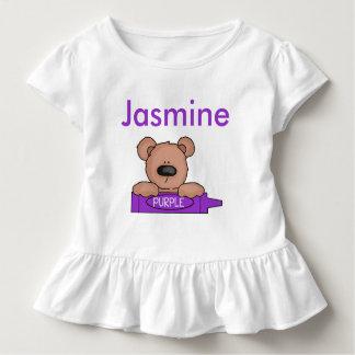Camiseta Infantil O ursinho personalizado do jasmim