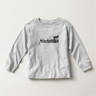 Camiseta Infantil O vintage pernicioso inspirou o duende complicado
