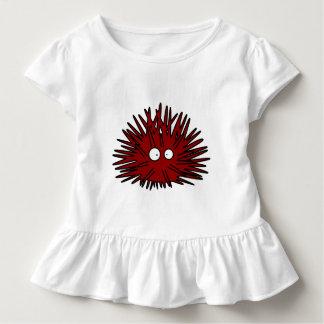 Camiseta Infantil Oceano vermelho uni espinhoso do ouriço do