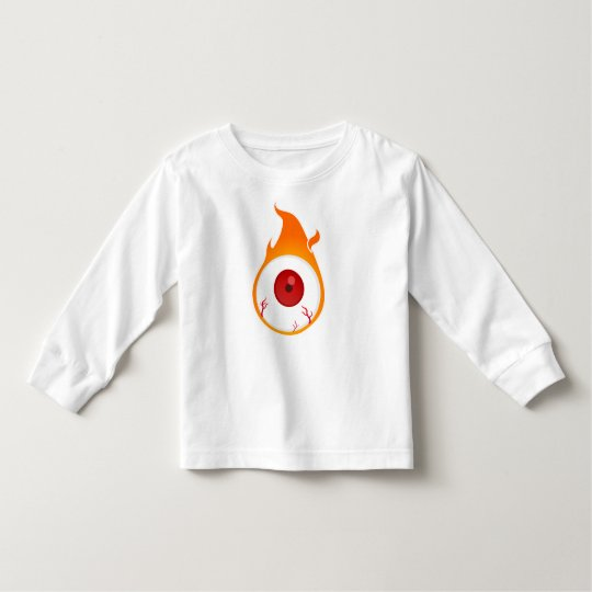 Camiseta Infantil olho flamejante