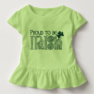 Camiseta Infantil Orgulhoso ser irlandês, nó do céltico do Dia de