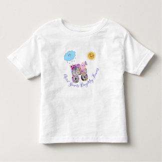 Camiseta Infantil Os chás Bring de abril podem flores
