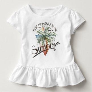Camiseta Infantil Os melhores momentos no T do plissado do verão |