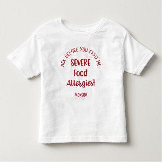 Camiseta Infantil Os miúdos severos das alergias de comida