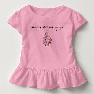 """Camiseta Infantil """"Os óleos essenciais soothe minha menina da"""
