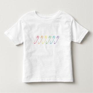 Camiseta Infantil Os pinos de segurança do arco-íris você é seguro