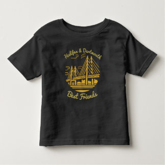 Camiseta Infantil Ouro dos melhores amigos de Nova Escócia Halifax